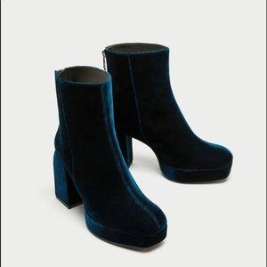Zara Size 6.5 Platform Ankle Boots